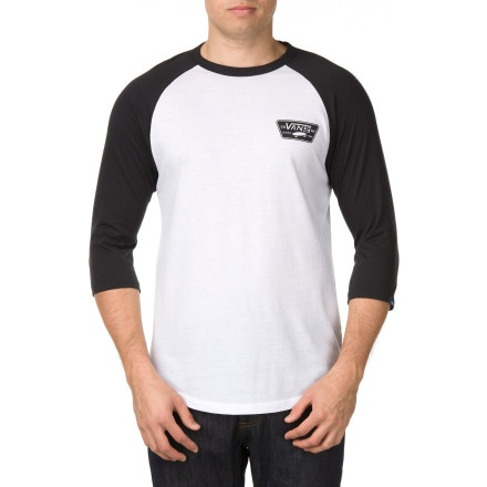 Vans Full Patch Raglan T-Shirt - 3/4 Sleeve - Men's