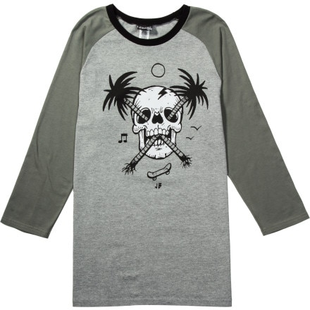 Volcom Palm Skull T-Shirt - 3/4-Sleeve - Men's
