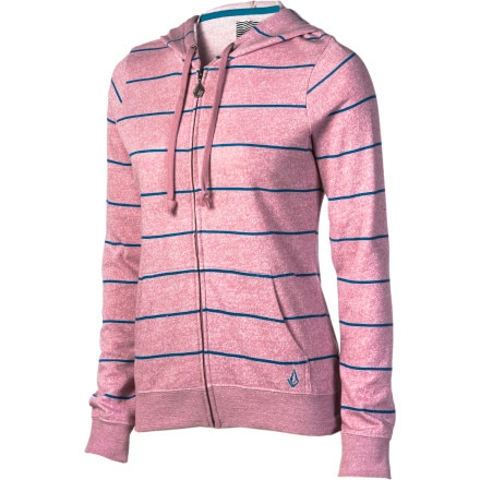 Volcom Moclov Striped Full-Zip Sweatshirt - Women's