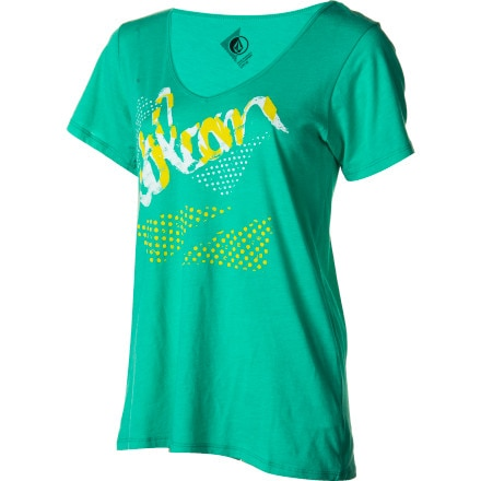Volcom Script-A-Dot Boyfriend T-Shirt - Short-Sleeve - Women's