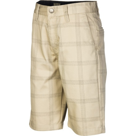Volcom Frickin Plaid Chino Short - Boys'