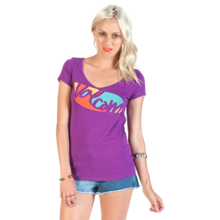Volcom Shock Block Slim V-Neck T-Shirt - Short-Sleeve - Women's