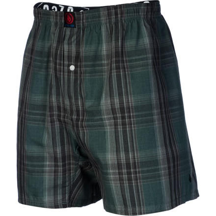 Volcom Ex Factor Plaid Boxer - Men's