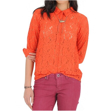 Volcom Not So Classic Lace Shirt - Long-Sleeve - Women's