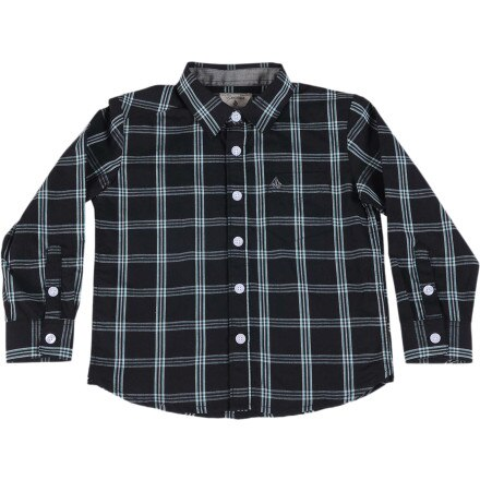 Volcom Why Factor Plaid Shirt - Long-Sleeve - Toddler Boys'