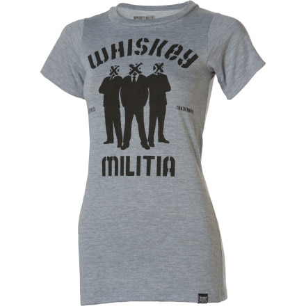 Whiskey Militia Crate Crew T-Shirt - Short-Sleeve - Women's