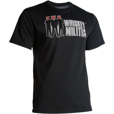 Whiskey Militia Logo Crew T-Shirt - Short-Sleeve - Men's
