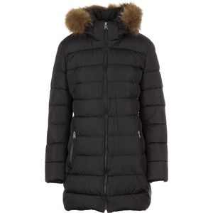ADD Down Coat With Fur Border - Women's