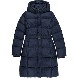 ADD Long Down Coat with Removable Hood - Girls'
