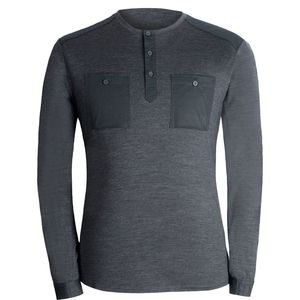 Alchemy Equipment 180GSM Single Jersey Merino Henley Shirt - Long-Sleeve - Men's