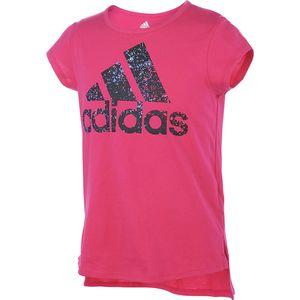 Adidas Curved Hem T-Shirt - Toddler Girls'