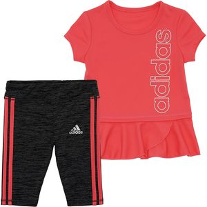 Adidas 3 Stripe Capri Tight Set - Infant Girls'