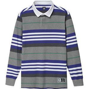 아디다스 Adidas Cleland Polo Shirt - Mens,Core Heather/Active Blue/Active Green