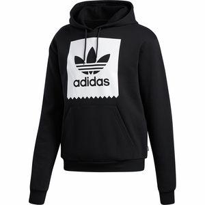 아디다스 Adidas Solid Blackbird Pullover Hoodie - Mens,Black/White