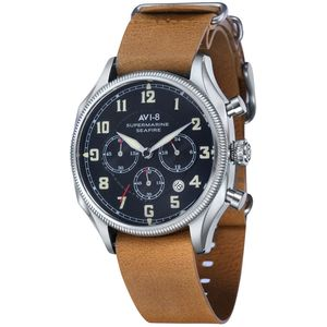AVI-8 AV-4025 Leather Supermarine Seafire Watch