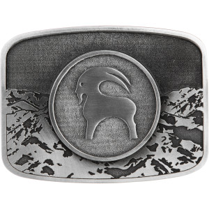Backcountry Rockmount Pewter Belt Buckle