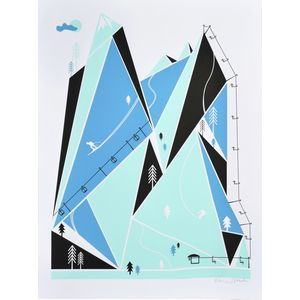 Brainstorm Ski Resort Screenprint