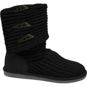Bearpaw Knit Tall Triangle Button Boot - Women's