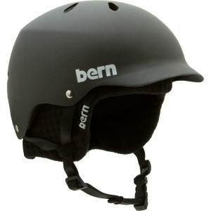 Bern Carbon Fiber Watts EPS Visor Helmet wKnit Liner