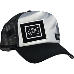 Bigtruck Brand Original Black White Powder Trucker Hat