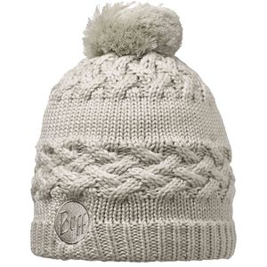 Buff Knitted Polar Pom Pom Hat