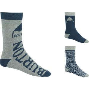 Burton Multi Blue Apres 3 Pack Socks - Men's