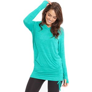Beyond Yoga Cloud Heather Ruched Pullover Hoodie - Women's