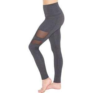 Beyond Yoga High Waist Striped Mesh Long Leggings - Women's