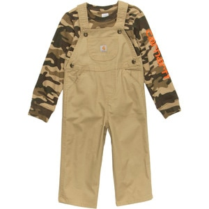 Carhartt Washed Ripstop Bib Overall Set - Toddler Boys'