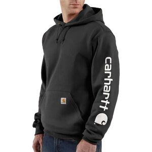 Carhartt Midweight Signature Sleeve Logo Pullover Hoodie - Men's On sale