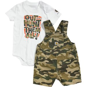 Carhartt Brown Camo Shortall Set - Infant Boys'