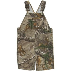 Carhartt Washed Work Camo Bib Shortall - Toddler Boys'