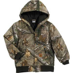 Carhartt Camo Active Quilted Flannel Jacket - Boys'
