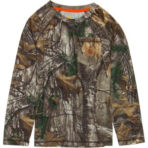 Carhartt Force Camo Raglan T-Shirt - Long-Sleeve - Boys'