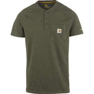 Carhartt Force Cotton Delmont Henley Shirt - Short-Sleeve - Men's