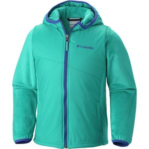 Columbia Pearl Plush II Hybrid Hooded Jacket - Girls'