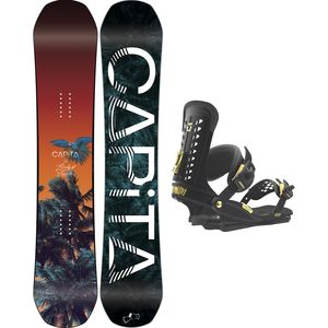 Capita Birds Of A Feather x Union Trilogy Snowboard Package - Women's