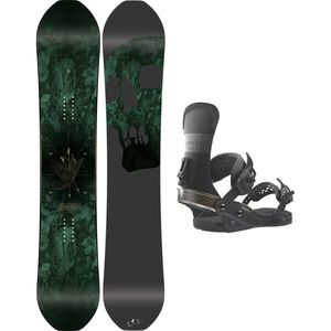 Capita Black Snowboard of Death x Union T.Rice Snowboard Package