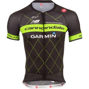 Castelli Cannondale/Garmin Aero Race 5.0 Full-Zip Jersey - Short Sleeve - Men's