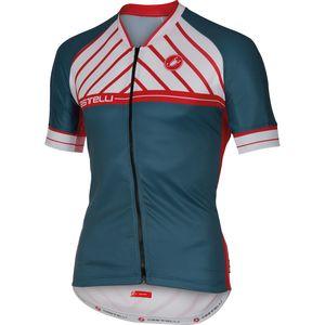 Castelli Scotta Full Zip Jersey - Short Sleeve - Men's