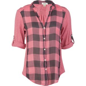 Dylan Vintage Buffalo Check Roll Sleeve Shirt - Long-Sleeve - Women's