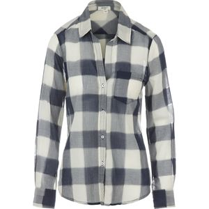 Dylan Sheer Buffalo Plaid Pocket Shirt - Women