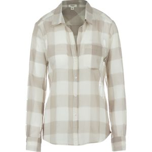 Dylan Sheer Buffalo Plaid Pocket Shirt - Long-Sleeve - Women's