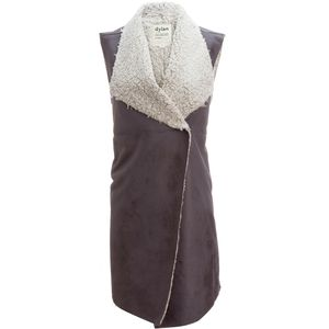 Dylan Frosty Tipped Shearling Long Snap Vest - Women's