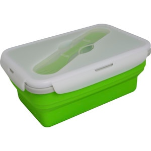 Eco Vessel Collapsible Silcone Lunch Box - Single Compartment With Utensil