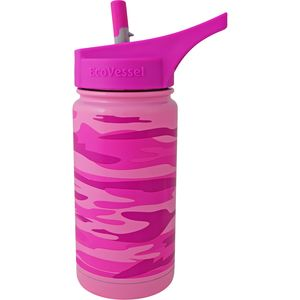 Eco Vessel Frost Kids Insulated Bottle with Straw Top - 13 oz