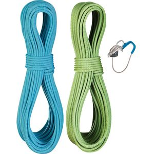 Edelrid Flycatcher Pro Dry Twin Rope Set with Micro Jul Belay Device - 6.9mm