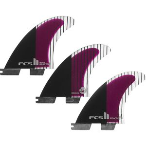 FCS Reactor Performance Core Carbon Surfboard Fins