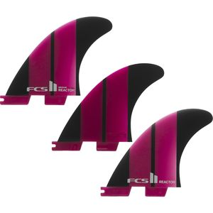 FCS Reactor Neo Glass Surfboard Fins - Tri Set
