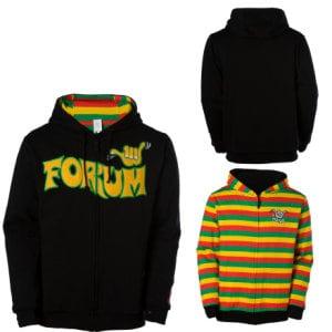 Forum Shaka Reversible Full-Zip Hooded Sweatshirt - Mens